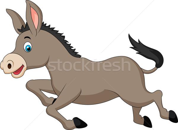 Bonitinho burro corrida crianças livro crianças Foto stock © tigatelu