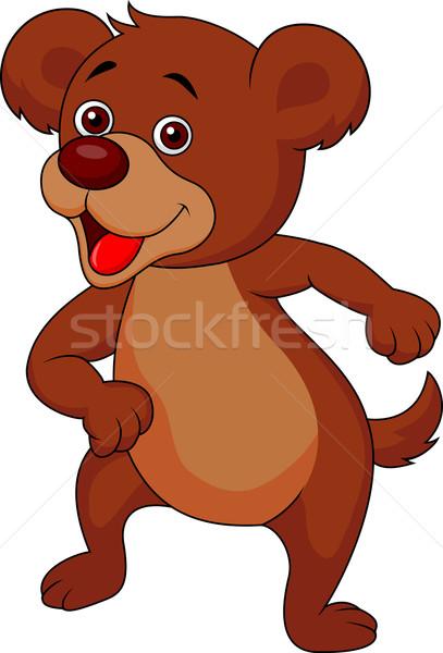 Cute brown bear cartoon  Stock photo © tigatelu