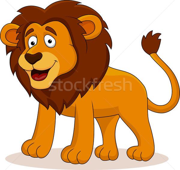 Stock photo: Lion cartoon