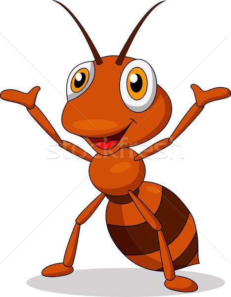 Cute ant cartoon mani isolato Foto d'archivio © tigatelu