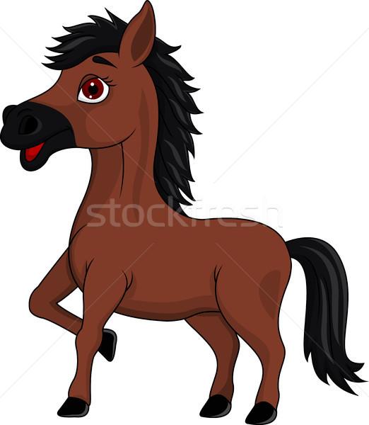 Brown horse cartoon Stock photo © tigatelu