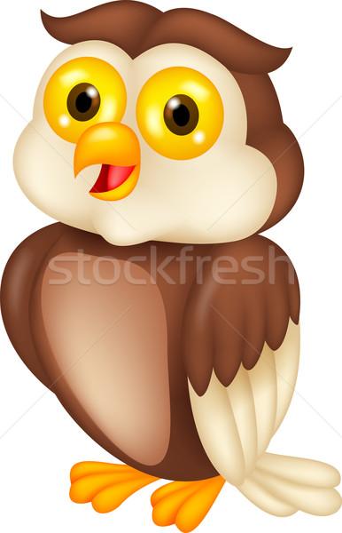 Cute bird cartoon Stock photo © tigatelu