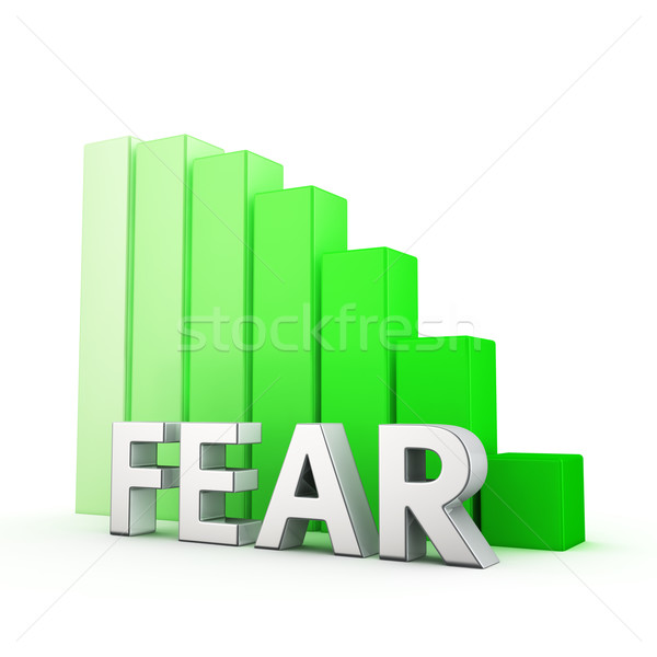 Azalma korku hareketli aşağı yeşil çubuk grafik Stok fotoğraf © timbrk