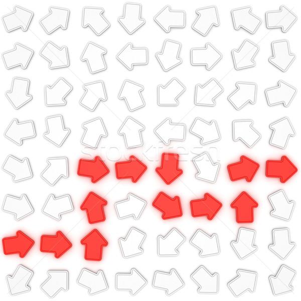 выход стратегия красный Стрелки указывая фон Сток-фото © timbrk