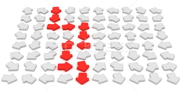 выход траектория красный Стрелки указывая фон Сток-фото © timbrk