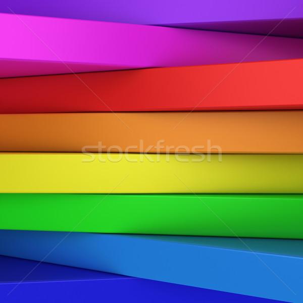 Rainbow panels Stock photo © timbrk