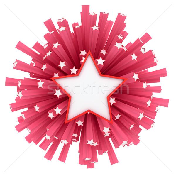 Csillag tűzijáték csillagok repülés erőteljes robbanás Stock fotó © timbrk