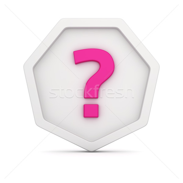 Badge with question  Stock photo © timbrk