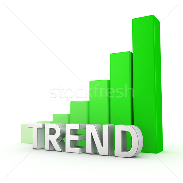 Stock photo: Growth of Trend