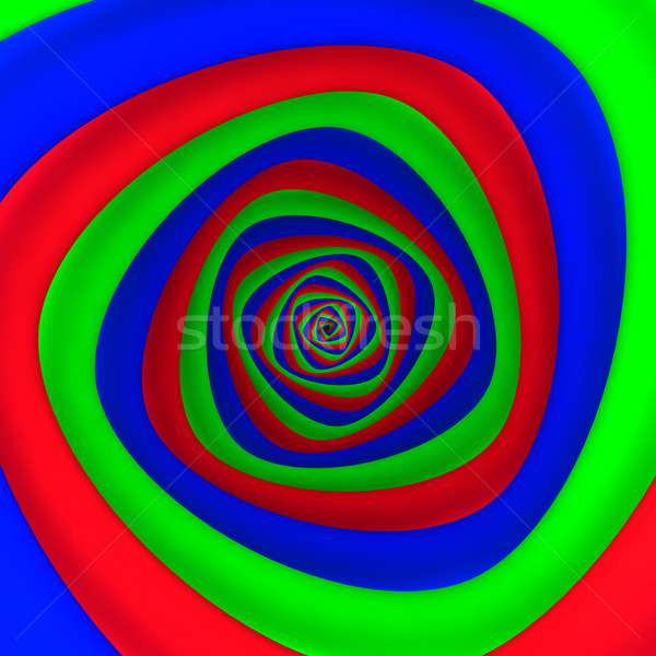Wir czerwony niebieski zielone kolory graficzne Zdjęcia stock © timbrk