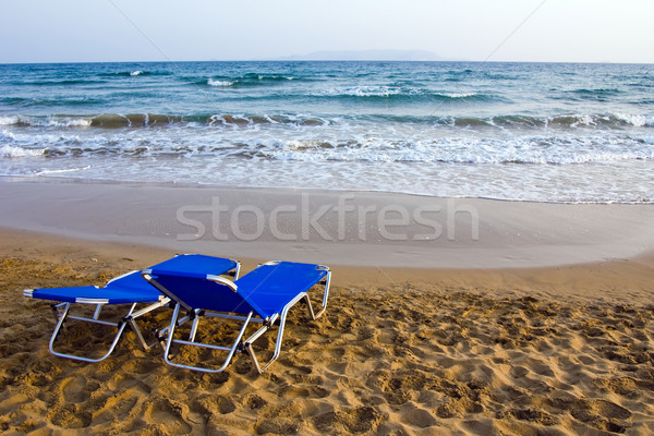 утра пляж облачный природы лет песок Сток-фото © timbrk