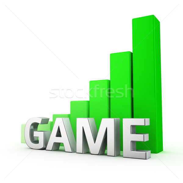 Büyüme oyun büyüyen yeşil çubuk grafik beyaz Stok fotoğraf © timbrk