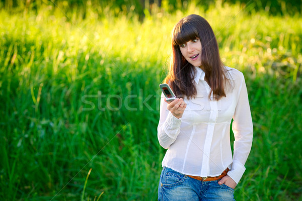 Surprising text message Stock photo © timbrk