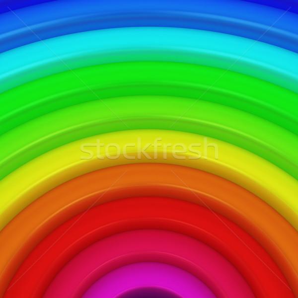 Rész szivárvány tapéta minta szín kör Stock fotó © timbrk