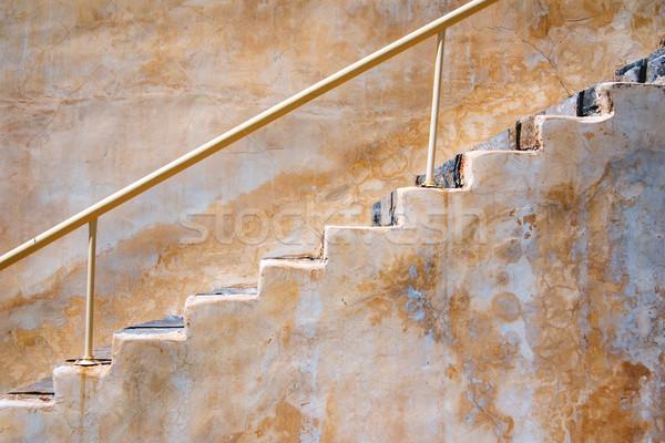 Kamień klatka schodowa architektury kroki gipsu nikt Zdjęcia stock © timbrk