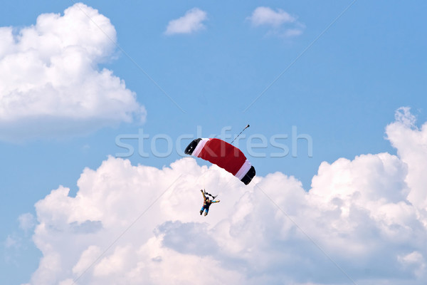 Parachute in the sky Stock photo © timbrk