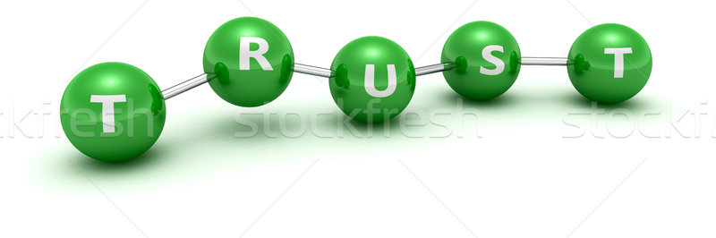 Trust molecule Stock photo © timbrk
