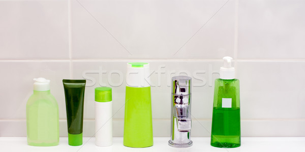 Green vials Stock photo © timbrk
