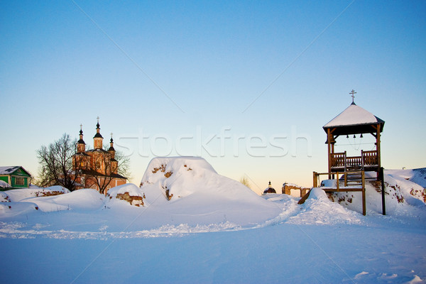 Belfry at Svensky monastery Stock photo © timbrk