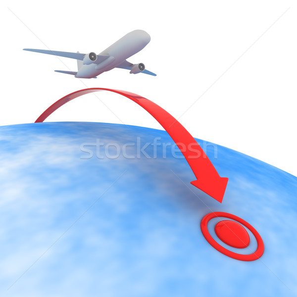 Point of destination Stock photo © timbrk