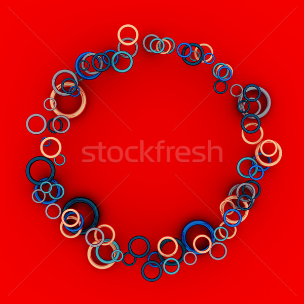 круга кадр синий кольцами фон Сток-фото © timbrk