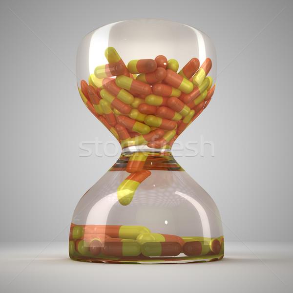 Clessidra medici capsule clock pillola farmacia Foto d'archivio © timbrk