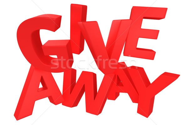 Giveaway in red Stock photo © timbrk