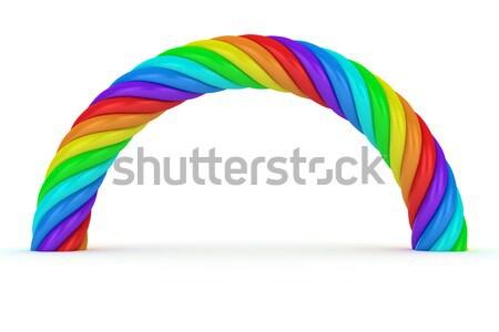 радуга арки белый аннотация кабеля шаблон Сток-фото © timbrk