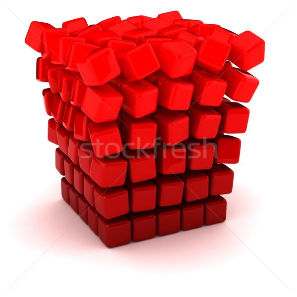 падение отдельно куб небольшой модель окна Сток-фото © timbrk