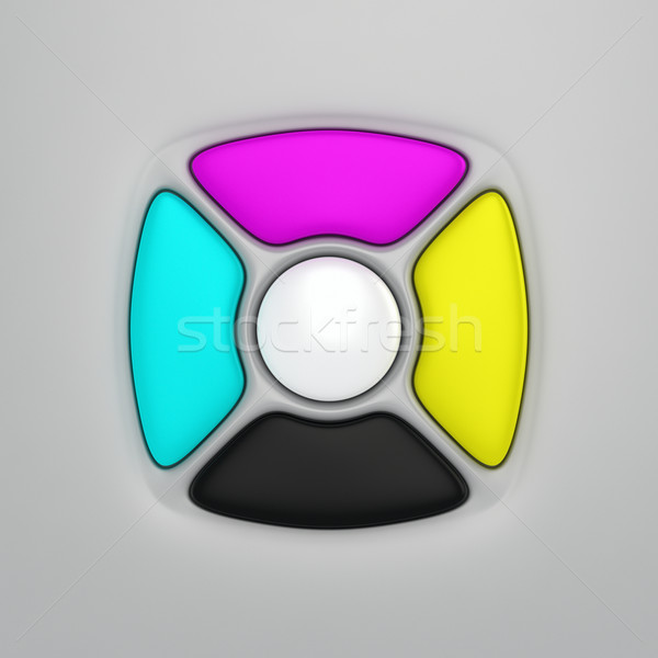 CMYK remote control buttons Stock photo © timbrk