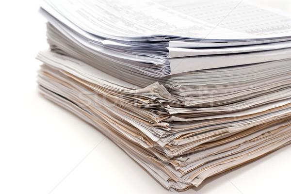 Documento contabilità documenti isolato Foto d'archivio © timbrk