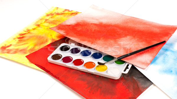 Water color paints Stock photo © timbrk