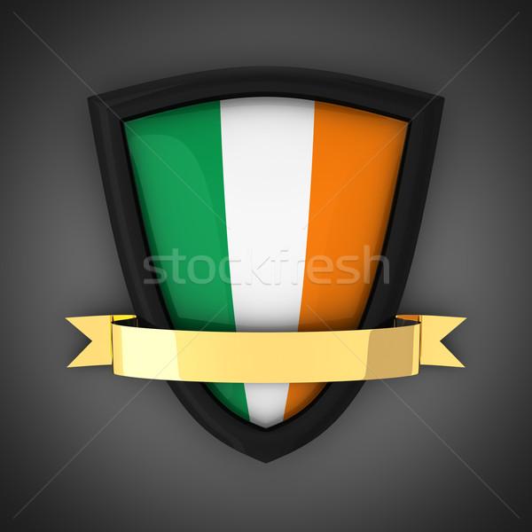 ирландский щит цветами флаг Ирландия золото Сток-фото © timbrk
