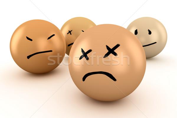 érzelmek golyók különböző szomorúság bánat csalódás Stock fotó © timbrk
