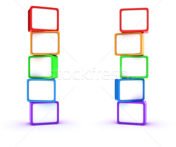 Columnas cubos dos cuadro Screen Foto stock © timbrk
