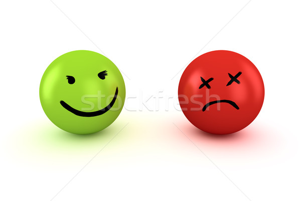 悲しい 幸せ 2 顔 ストックフォト © timbrk