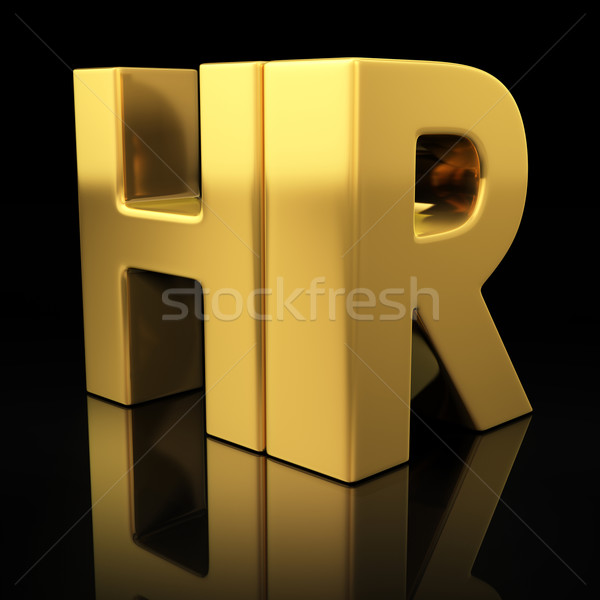 HR gold letters Stock photo © timbrk