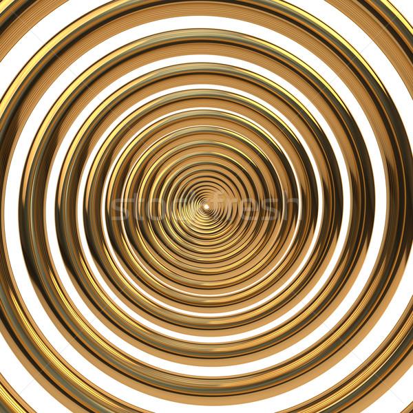 золото спираль концентрический изолированный белый весны Сток-фото © timbrk