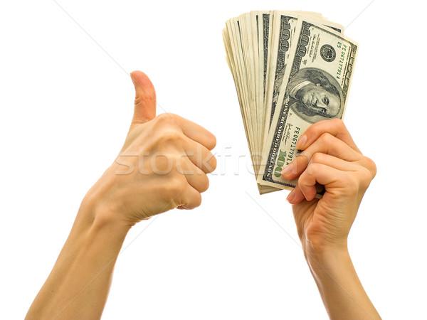 Сток-фото: успех · бизнеса · деньги · стороны · символ · бумаги