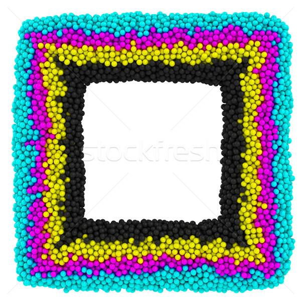 CMYK square frame Stock photo © timbrk