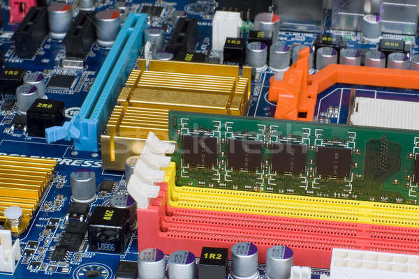 Memory in mainboard Stock photo © timbrk
