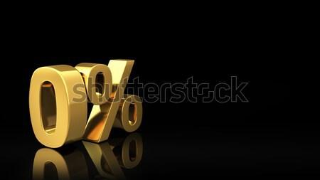нулевой черный слайдов золото символ Сток-фото © timbrk