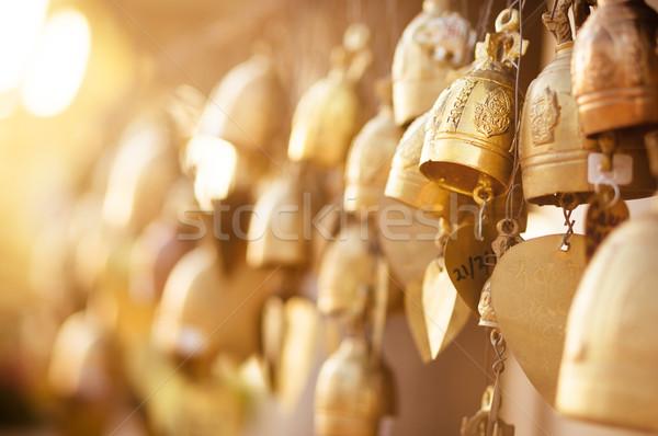 Arany buddhista sok kívánságok napfény ázsiai Stock fotó © timbrk
