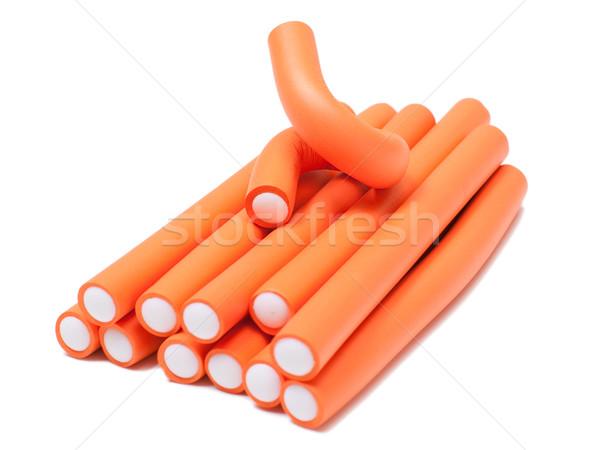 Orange curlers Stock photo © timbrk