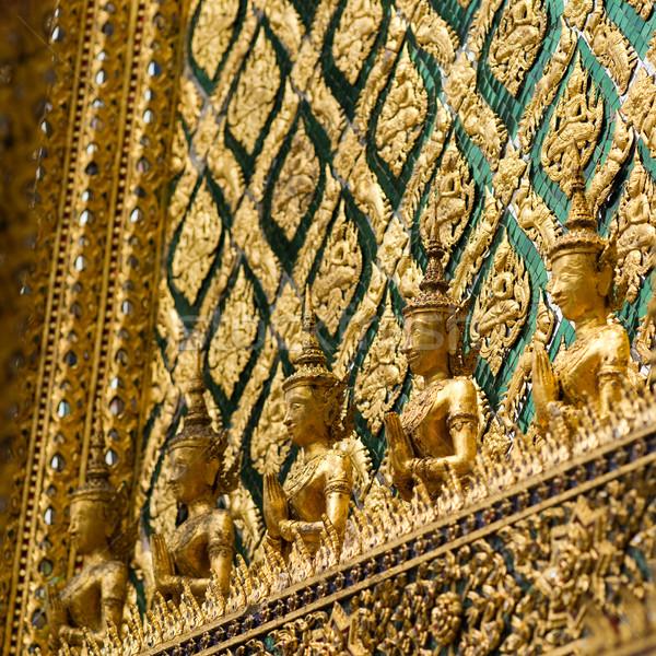 декоративный стены храма дворец Бангкок Сток-фото © timbrk
