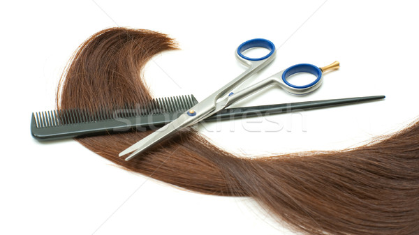 Haircutting instruments Stock photo © timbrk