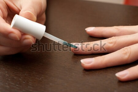 Epidermisz törődés körül szög egészség szépség Stock fotó © timbrk