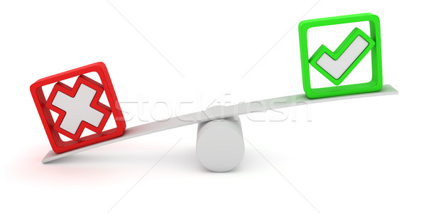 Altalena verde croce rossa bilanciamento colore Foto d'archivio © timbrk