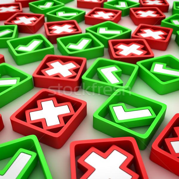 Krzyże przypadkowy grupy pozytywny negatywne krzyż Zdjęcia stock © timbrk