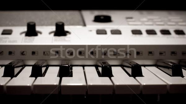 электрические фортепиано профессиональных клавиатура музыку Сток-фото © timbrk